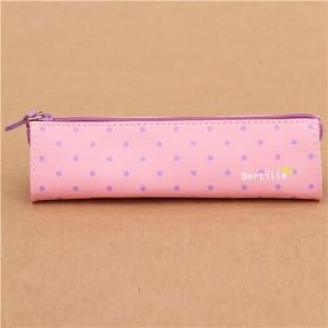 Estuche-lpices-bolsito-kawaii-rosa-con-lunares-violeta-0