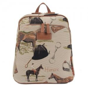 Handbag-Queen-Bolso-mochila-de-lona-para-mujer-beige-Large-0