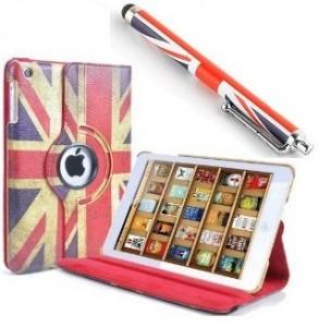 Jellybean-ipadblktan-Funda-para-iPad-5-Air-piel-sinttica-funcin-atril-rotacin-de-360-compatible-con-funcin-activacin-diseo-de-bandera-britnica-envejecida-0