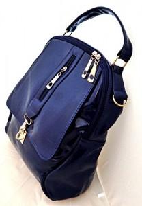 Mochila-borsa-para-mujer-imitacin-de-cuero-azul-Tinas-Collection-0