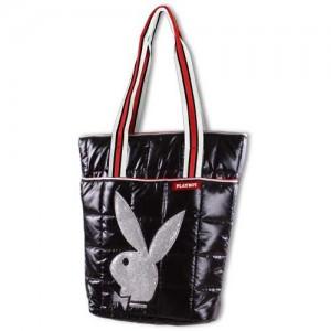 Playboy-83873-Bolso-de-tela-color-blanco-talla-40-cm-0