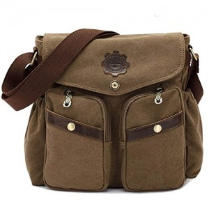 iBaste-Bolsa-de-diagonal-de-moda-bolsa-de-hombro-informal-unisex-bolsa-de-lona-lavada-caqui-0