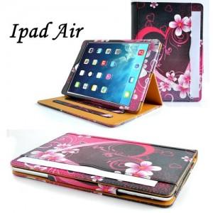 n9-online-Jellybean-Funda-para-iPad-Air-piel-incluye-protector-de-pantalla-diseo-de-flores-y-corazones-0